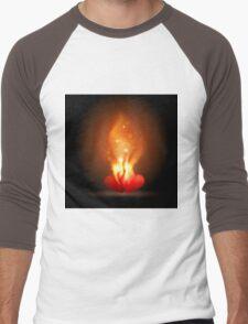 Burning Hearts Men's Baseball ¾ T-Shirt