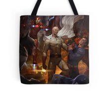 Saitama vs Superheroes Tote Bag