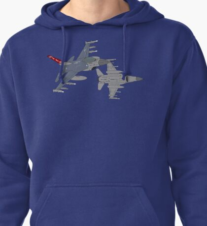187th FW 100th FS Red Tails F-16 Vipers Alabama ANG Pullover Hoodie