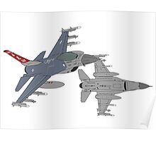 187th FW 100th FS Red Tails F-16 Vipers Alabama ANG Poster