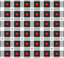 Abstract Рsychedelic Check Pattern by Netopir