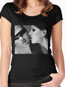 New Desire - sexy prefect calm love erotic art  t-shirts fetish black white valentine beautiful dark Women's Fitted Scoop T-Shirt
