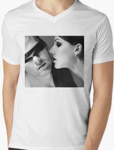 New Desire - sexy prefect calm love erotic art  t-shirts fetish black white valentine beautiful dark Mens V-Neck T-Shirt