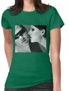 New Desire - sexy prefect calm love erotic art  t-shirts fetish black white valentine beautiful dark Womens Fitted T-Shirt