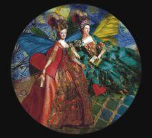 Vintage Golden Women Gemini Gothic Whimsical Collage Kids Tee