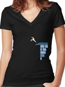 Leap of Faith - Prince of Persia Women's Fitted V-Neck T-Shirt