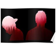 Twenty One Pilots Outline Red Forest Poster