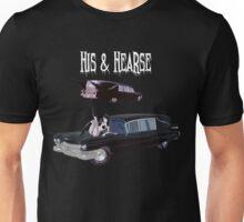 His And Hearse - Bikini Girl Classic Car (White Letter Variant) Unisex T-Shirt