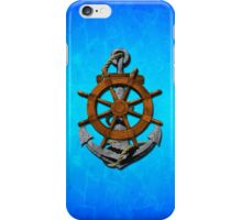 Nautical Ships Wheel And Anchor iPhone Case/Skin