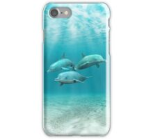 Swimming Dolphins iPhone Case/Skin