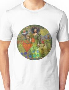 Vintage Taurus Gothic Whimsical Collage Woman Surreal Unisex T-Shirt