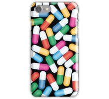Colorful Pills Pattern on Black Background iPhone Case/Skin