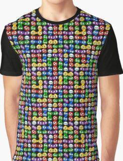 Puyo Puyo pattern Graphic T-Shirt