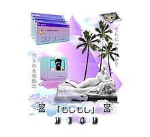 Hello are you there? High Vaporwave  Photographic Print