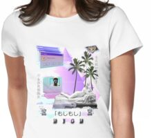 Hello are you there? High Vaporwave  Womens Fitted T-Shirt