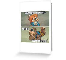 0011 - Bear Stuffs Greeting Card