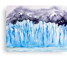 Glacier. Watercolor landscape. Canvas Print
