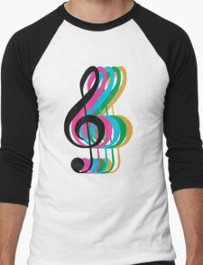 PTX Music Notes Men's Baseball ¾ T-Shirt
