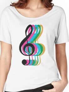 PTX Music Notes Women's Relaxed Fit T-Shirt