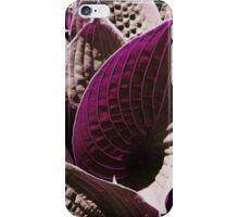 Magenta Leaves iPhone Case/Skin