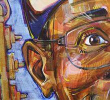 Working Kirk Reeves portrait Sticker