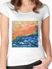 Sicilian Sunset on Sea Women's Fitted Scoop T-Shirt