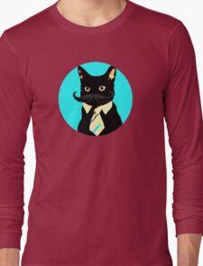 Mustache and cat Long Sleeve T-Shirt