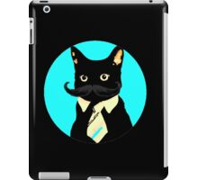 Mustache and cat iPad Case/Skin