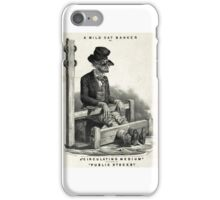 A wild cat banker - Currier & Ives - 1853 iPhone Case/Skin