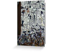 Two bikes at Rotterdam Greeting Card
