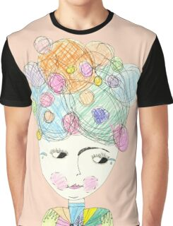 Madame Moonage - a tribute to David Bowie (peach) Graphic T-Shirt