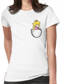 Pocket Peach Womens Fitted T-Shirt