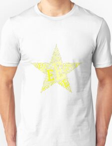 Word Art E T-Shirt