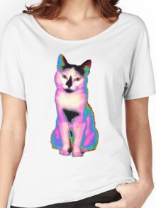Psychedelic Kitty IV Women's Relaxed Fit T-Shirt
