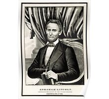 Abraham Lincoln - Sixteenth President of the United States - Currier & Ives - 1861 Poster