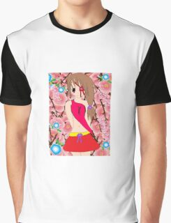 Anime flower girl Graphic T-Shirt