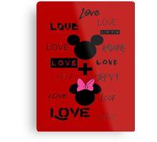LOVE- Red Metal Print