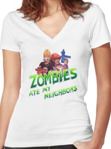 Save Our Neighbors! Women's Fitted V-Neck T-Shirt