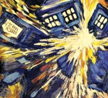 Exploding TARDIS Doctor Who 50th Anniversary Sticker