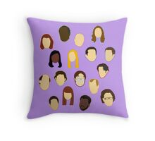The Office Heads - Custom Lt Purple/Lavender Throw Pillow