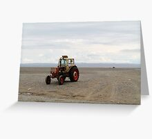 Mongolian Tractor Greeting Card
