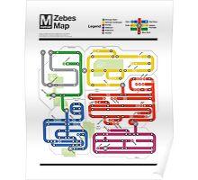Metroid Metro - NES Maps Series Poster