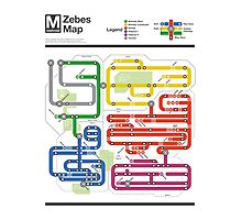 Metroid Metro - NES Maps Series Photographic Print