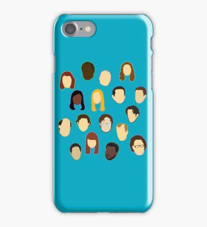 The Office Heads - Custom Teal iPhone Case/Skin