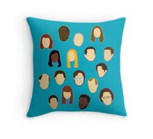 The Office Heads - Custom Teal Throw Pillow