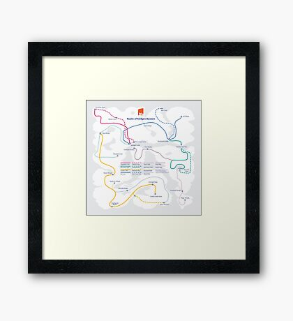 Dragon Warrior - NES Maps Series Framed Print
