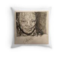 Quincy Jones Throw Pillow