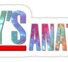 Greys Anatomy Logo - Tie Dye Sticker