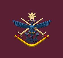 Australian Defence Force - ADF Joint Services Emblem over Red Velvet Unisex T-Shirt