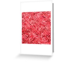 abstract red saint valentines hearts Greeting Card